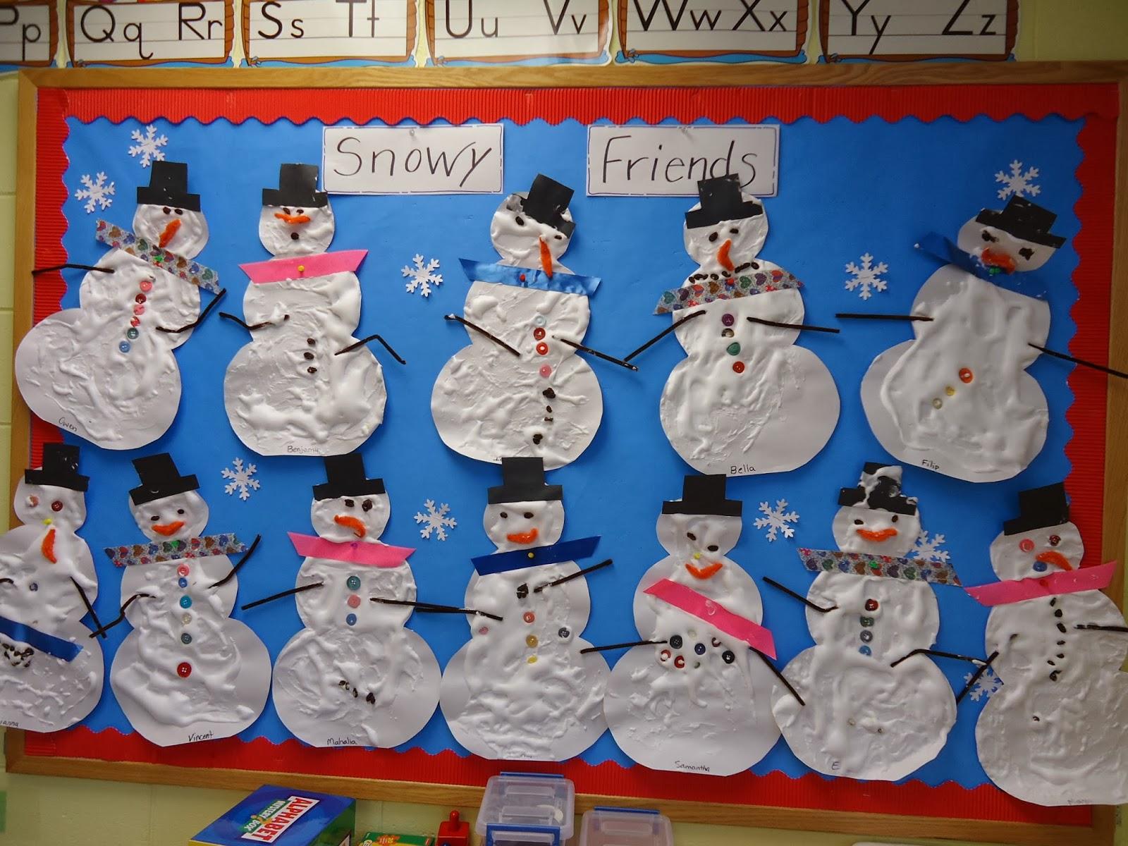 Trinity Preschool Mount Prospect Snowman Bulletin Board