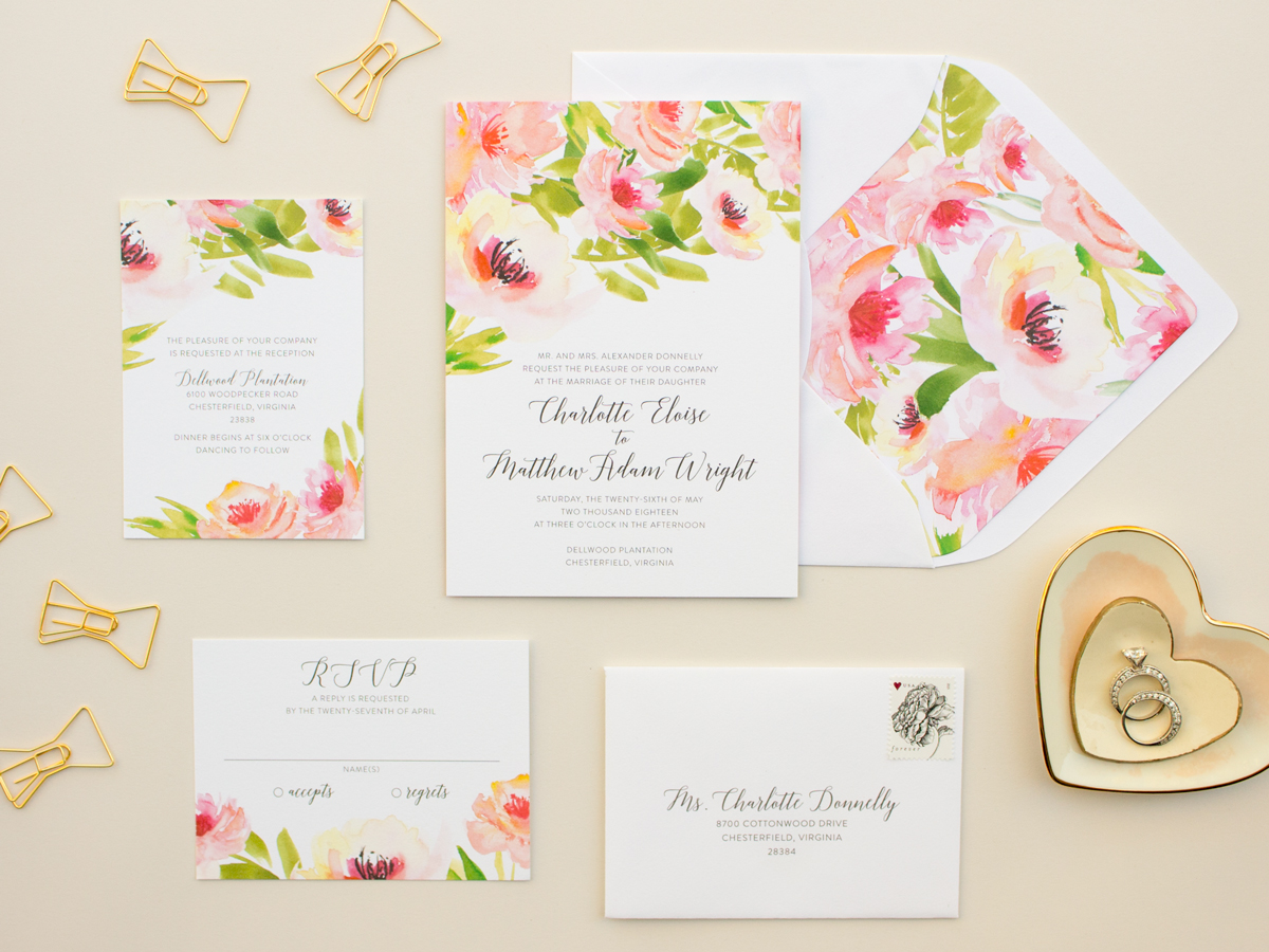 The Watercolor Collection 2016 Wedding Invitations: Ethereal ...