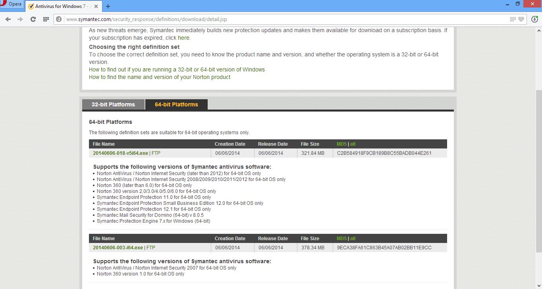 Cara Update File Database Norton Antivirus Secara Ofline