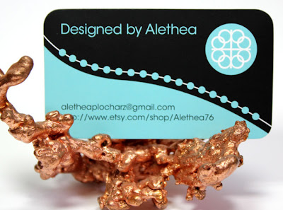 Business Card and Logo For Designed By Alethea