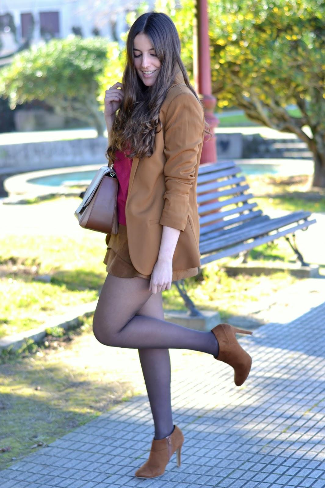 H&M brown blazer SS15