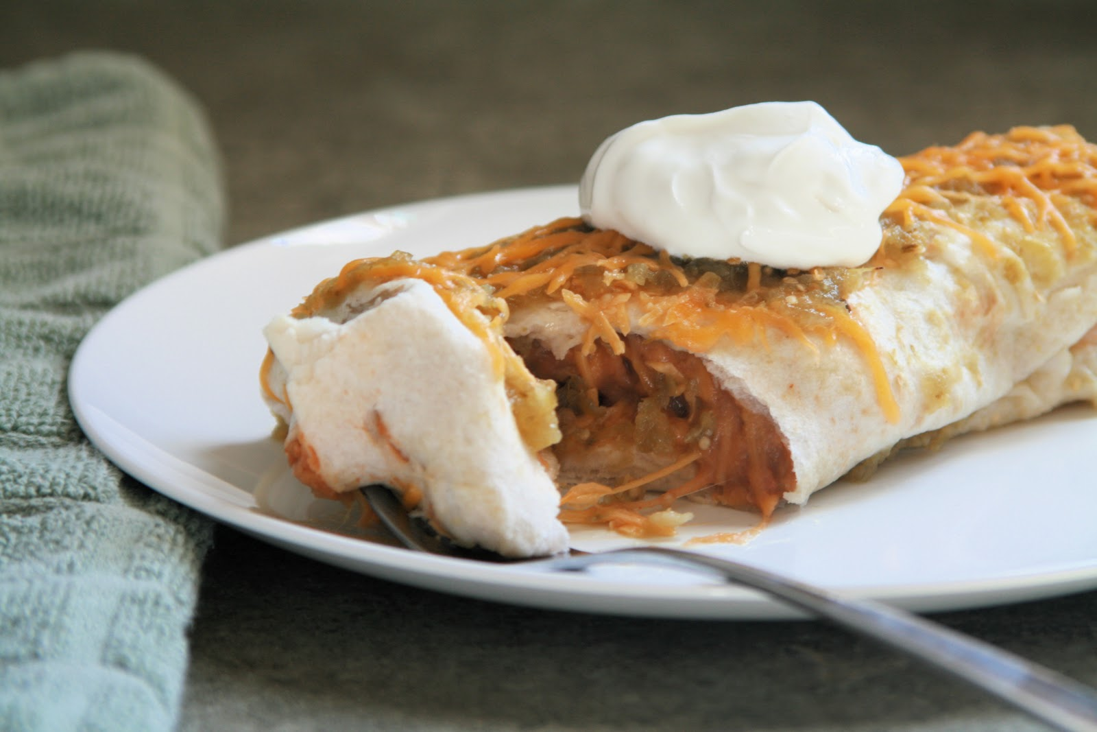 potato and black bean burritos with lime slow cooker recipe for spicy ...