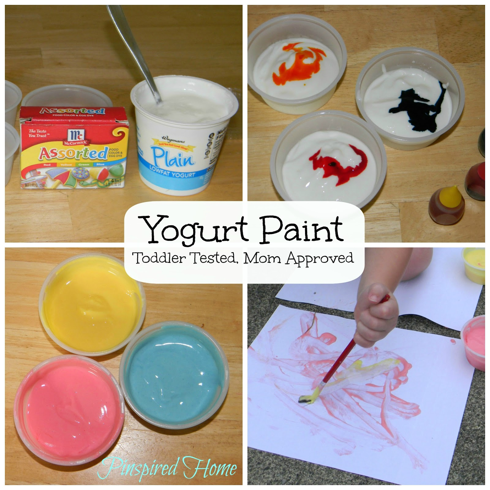 Pinspired Home: Yogurt Paint: Toddler Tested, Mom Approved
