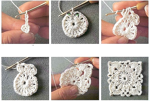 Uncinetto e crochet tutorial come realizzare le - Piastrelle uncinetto filet ...