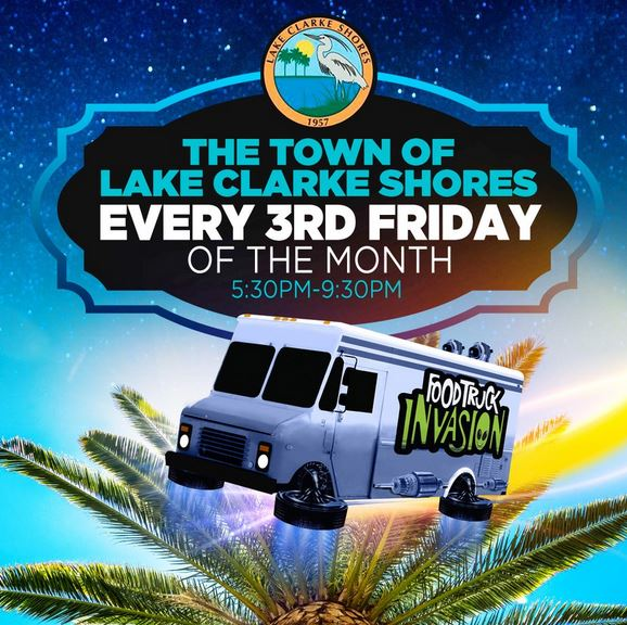 Food Truck Invasion every 3rd Friday in Lake Clarke Shores: