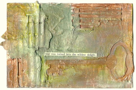 Whoopidooings: Carmen Wing - Mixed Media Grungy index card
