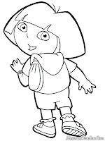 Mewarnai Dora Dan Tas Ranselnya
