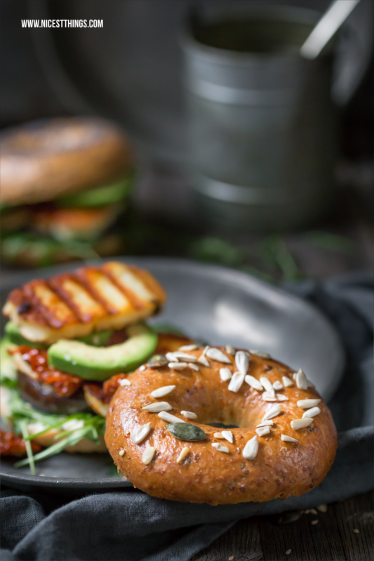 Mystic Light Halloumi Bagels