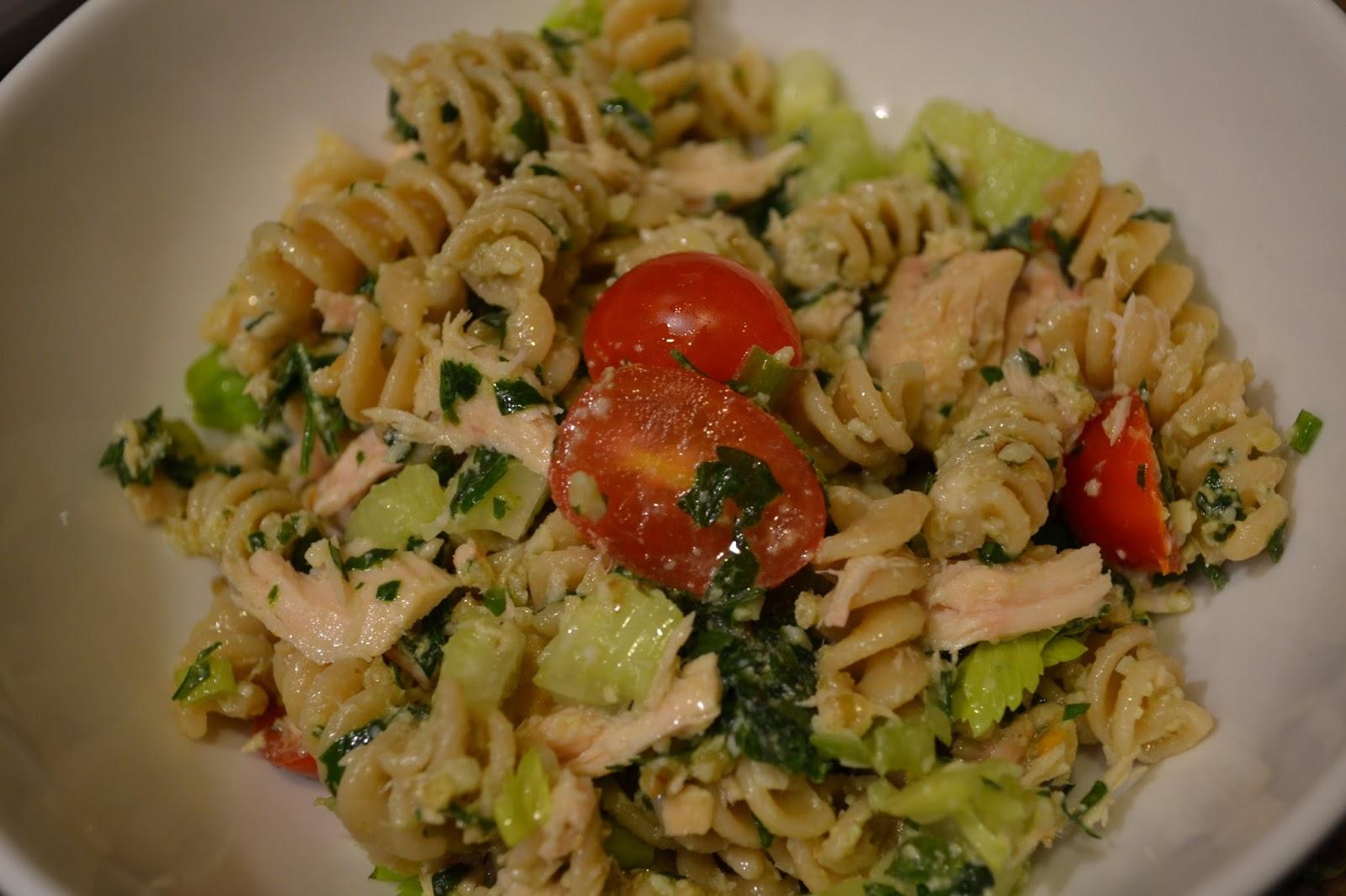healthyeatsgirl walnut pesto tuna pasta salad perfect