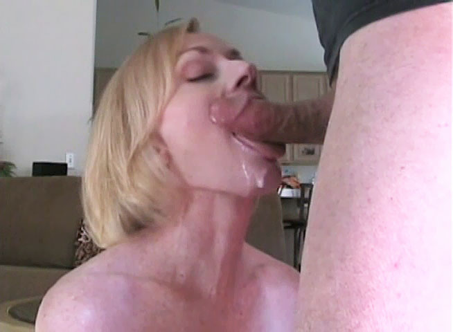 Mom giving son blowjob