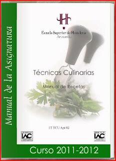 T cnicas culinarias manual de recetas de hosteleria for Manual tecnicas culinarias