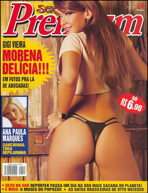 Confira as fotos da modelo Gigi Vieira, capa da Sexy Premium de agosto de 2004!