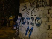 Murales en zonas aledañas a la unidad básica de La Cámpora Campana