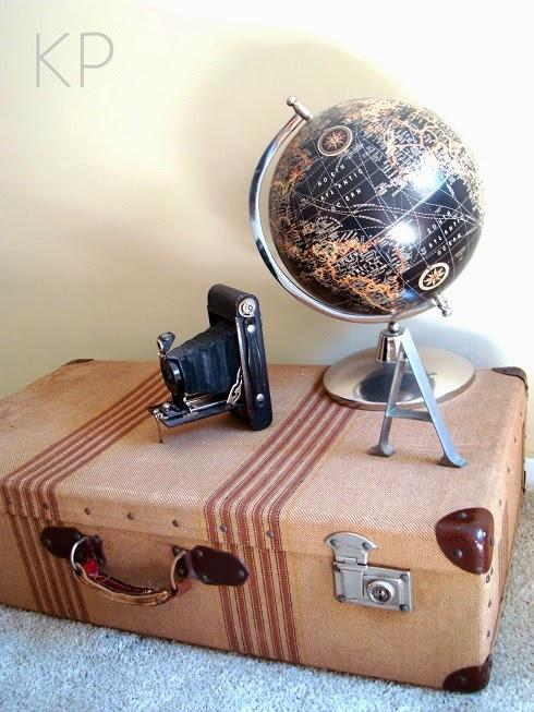 Comprar maleta viaje antigua para decorar