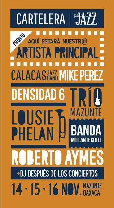 Programa del Festival de Jazz de Mazunte