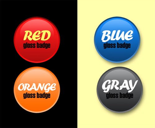How To Create a Simple Glossy Badge
