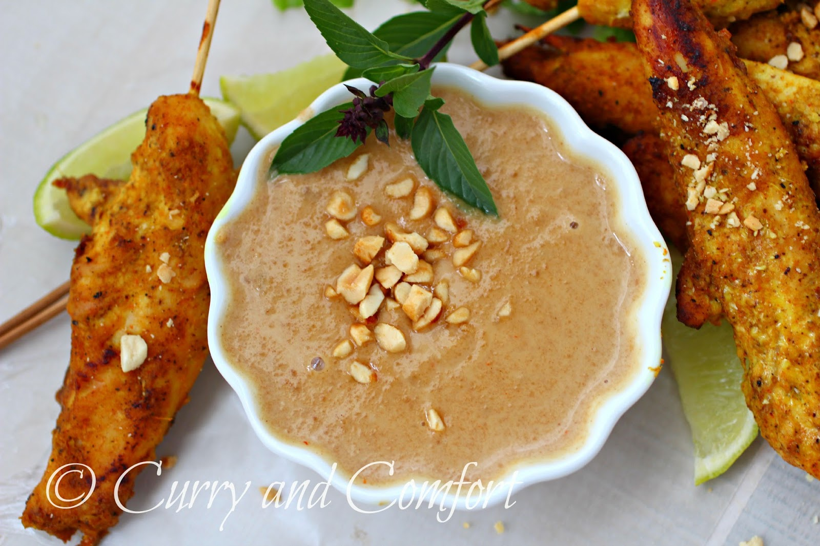 peanut sauce grilled curried chicken skewers with spicy peanut sauce ...