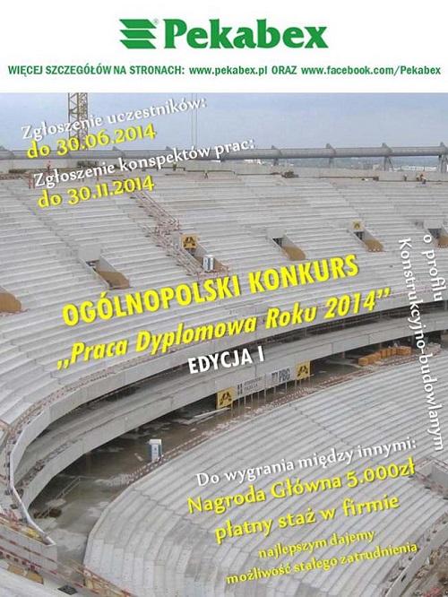 Plakat konkursu Praca Dyplomowa Roku 2014