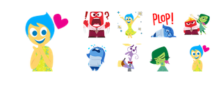 Inside Out Facebook Stickers