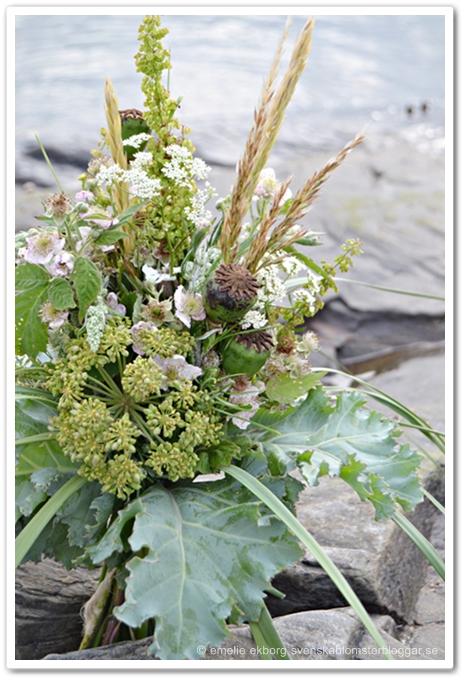 strandbukett, havsinspirerad bukett, bukett med vilda blommor