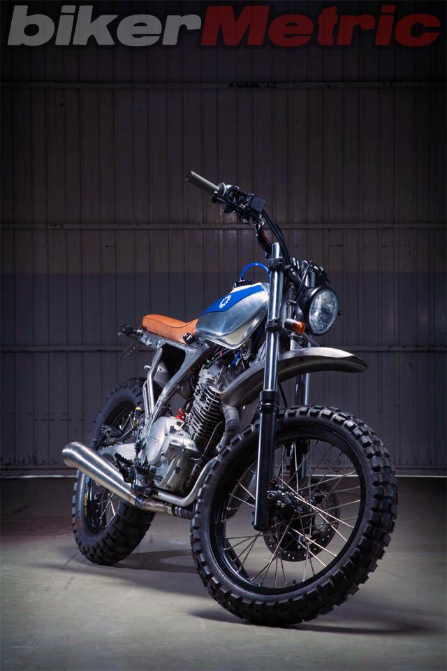 honda nx650 scrambler - front | kiddo motors