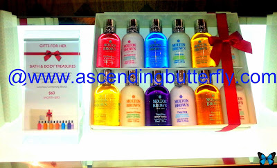 The Bath and Body Treasures Collection from Molton Brown