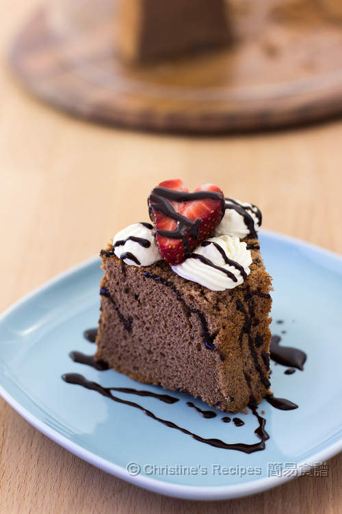 朱古力(巧克力)戚風蛋糕【簡易健康版】 Chocolate Chiffon Cake