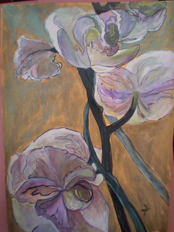 white orchids, A4, Joli