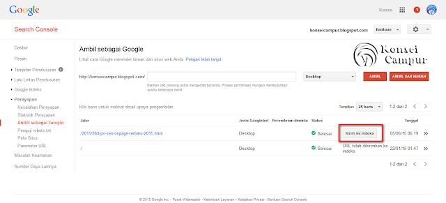 Cara Cepat, Artikel Terindeks Google