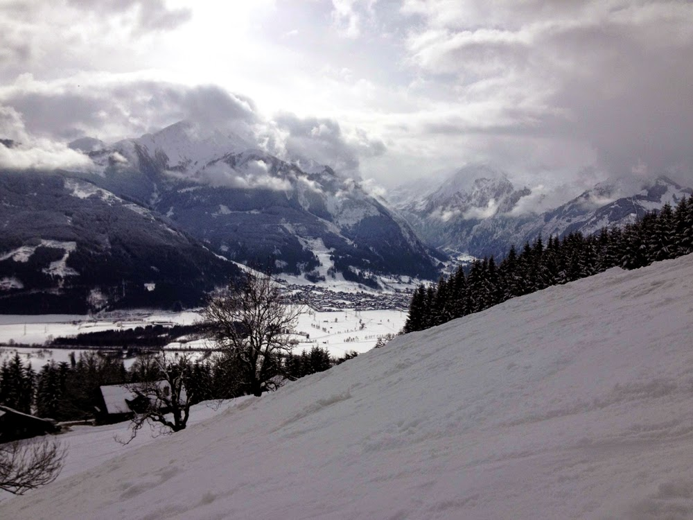 Skiing in Zell Am See, Austria
