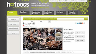 Hot Docs 2012: Buzkashi! World Premiere at the ROYAL Theatre April 29, 2012, screenshot