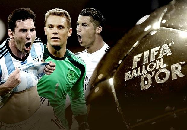 Inilah Tiga Finalis Ballon D'Or 2014!