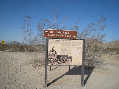 Black Eagle and Old Dale Road Sign Joshua Tree National Park