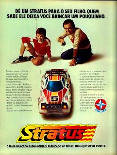 propaganda brinquedo Stratus da Estrela - 1979