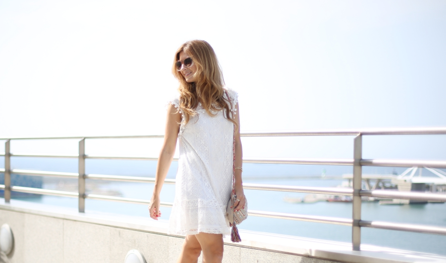 Vestido blanco. White dress