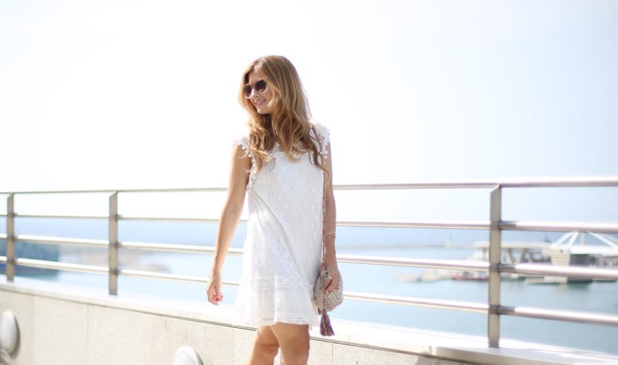 Vestido blanco. White dress