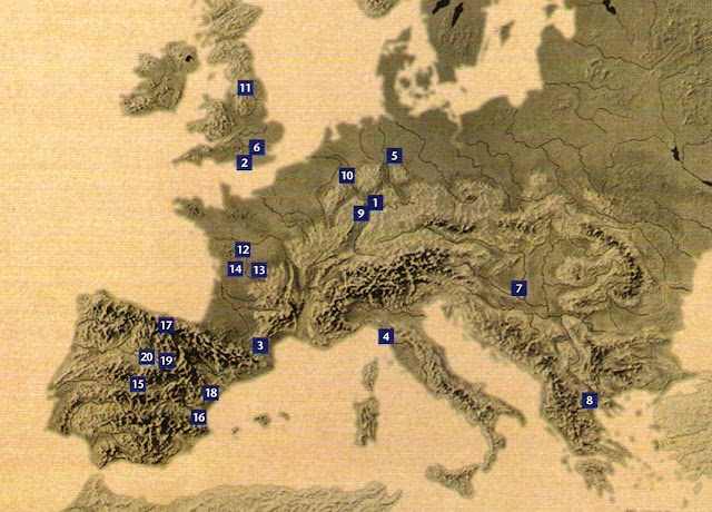 yacimientos fosiles espana:
