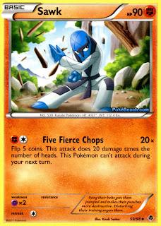 Sawk Emerging Powers Pokemon Card Review