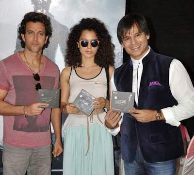 Hrithik, Kangna & Vivek at Krrish 3 Audio Launch Event Gallery