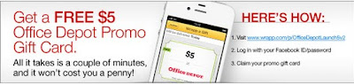 Get A Free $5 Office Depot Promo Gift Card With Wrapp