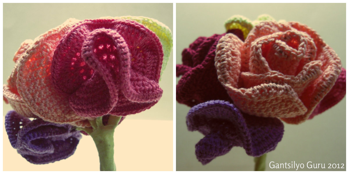 Gantsilyo Guru: Crocheted Flower Bouquet