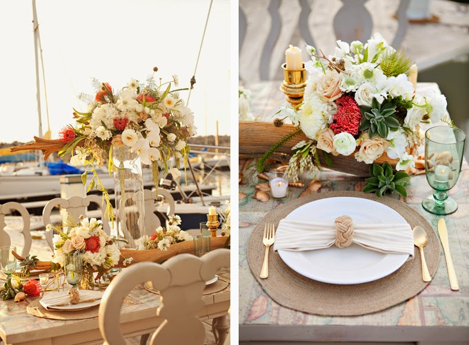 Coral and Gold Nautical Wedding Inspiration Shoot
