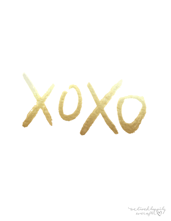 We Lived Happily Ever After Xoxo Free Print