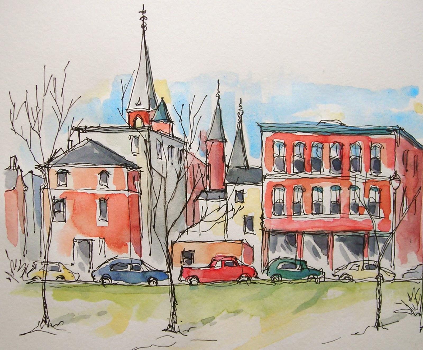 Sketchbook Wandering City Sketching