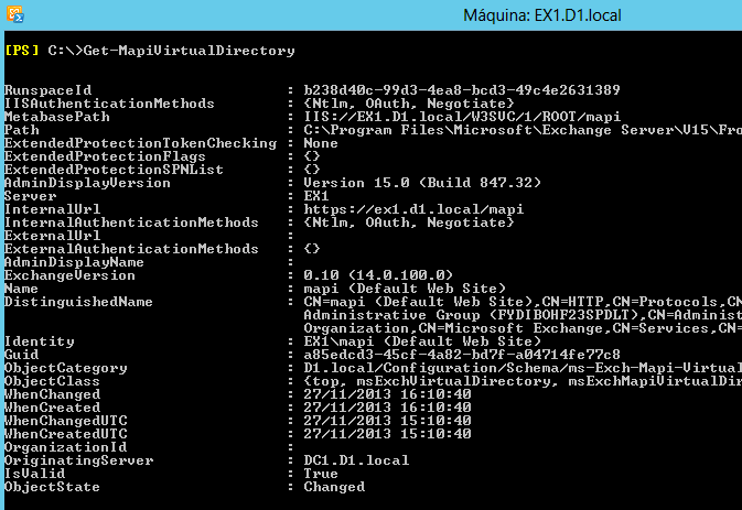 Novedad Exchange 2013 SP1: MAPI sobre HTTP