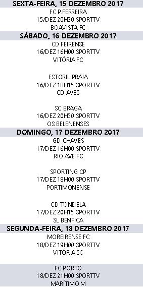 Liga Nós 2017-2018 15ºJornada