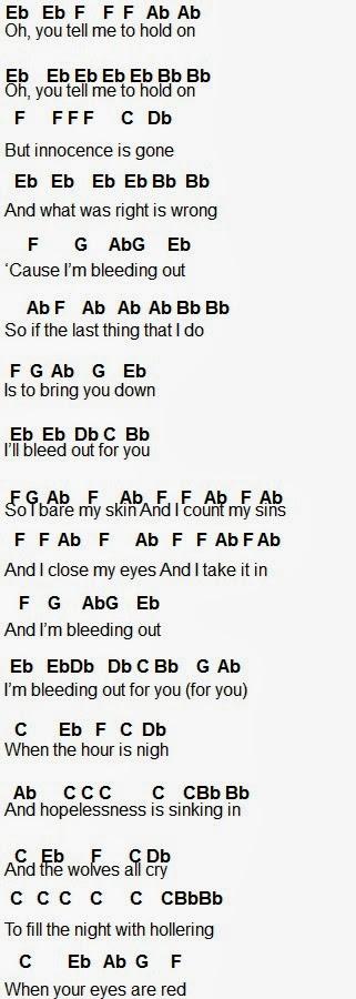 Flute Sheet Music Bleeding Out