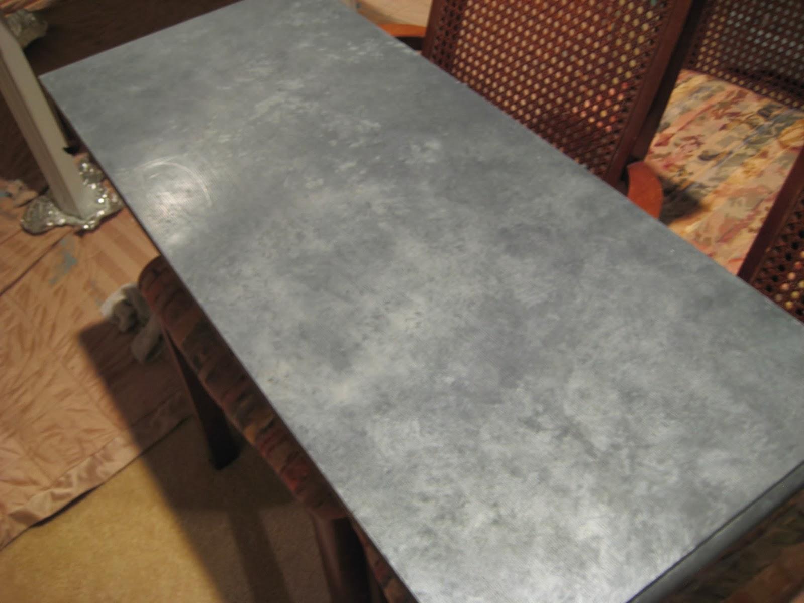 Salt Marsh Cottage Faux Zinc Tabletop Super Easy Tutorial