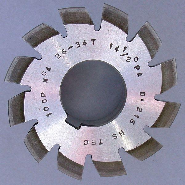 Involute gear cutter