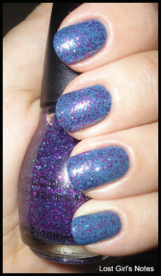chanel blue boy and sinful colors frenzy glitter top coat
